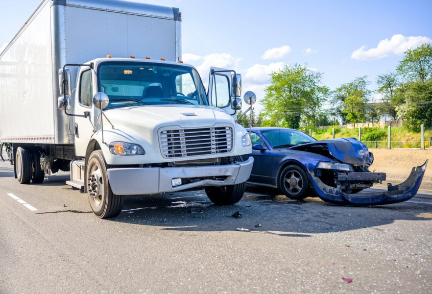 Collision,Of,A,Semi,Truck,With,Box,Trailer,A,Passenger